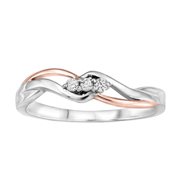 White & Rose Gold (0.06ct) Diamond Ring