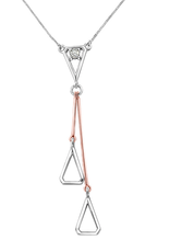 Fire and Ice 10K White and Rose Gold (0.082ct) Canadian Diamond Necklace