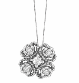 Fire and Ice Vintage Style Canadian Diamond Pendant