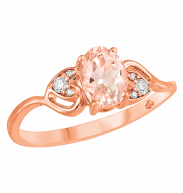 Fire and Ice Rose Gold Diamond Morganite Ring