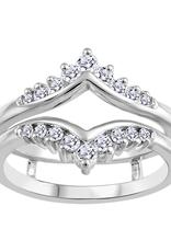 10K White Gold (0.35ct) Diamond Ring Jacket