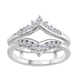 10K White Gold (0.35ct) Diamond Ring Jacket / Enhancer