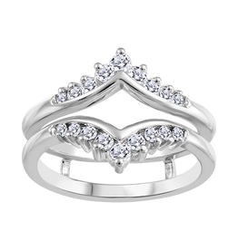 White Gold Diamond Ring Jacket (0.35tw)