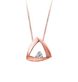 Rose Gold Geometric (0.041ct) Canadian Diamond Pendant