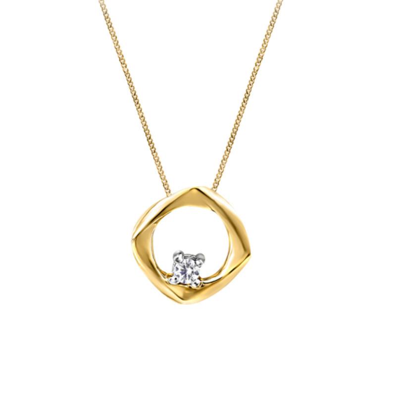 Canadian Diamond Geometric Pendant