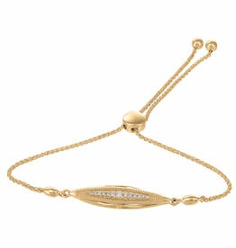 Lariette Diamond Bracelet(0.102ct) Yellow Gold