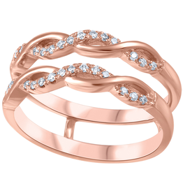 14K Rose Gold (0.15ct) Diamond Ring Jacket / Enhancer