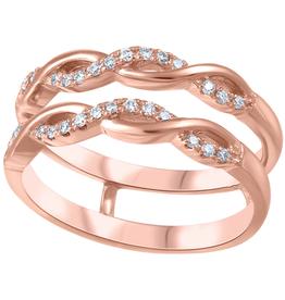 14K Rose Gold (0.15ct) Diamond Ring Jacket