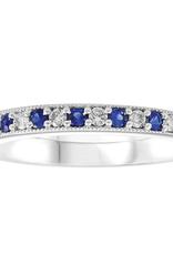 White Gold (0.12ct) Sapphire and Diamond Band