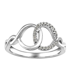 White Gold Diamond Geometric Infinity Ring