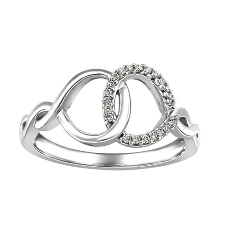 White Gold Diamond Geometric Infinity Ring