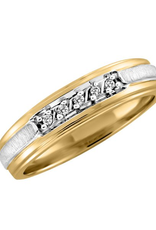 Yellow and White Gold (0.05ct) Diamond Band