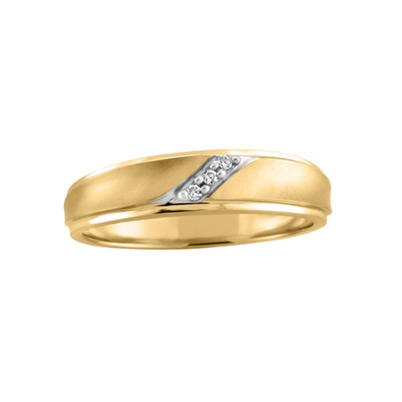 Yellow Gold (0.03ct) Diamond Band