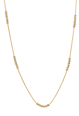 Miami Rose and White Gold Diamond Cut Beaded Necklace