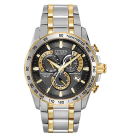 Citizen Citizen Perpetual Chronograph Atomic Time Mens Two Tone Watch
