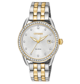 Citizen Citizen Ladies Two Tone Eco Drive Swarovski Crystals Watch