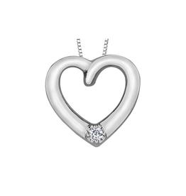 Forever Jewellery White Gold (0.04cttw) Diamond Heart Pendant