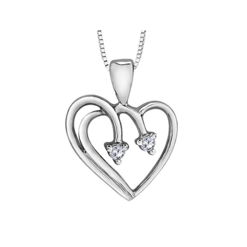 Forever Jewellery White Gold (0.03ct) Diamond Heart Pendant