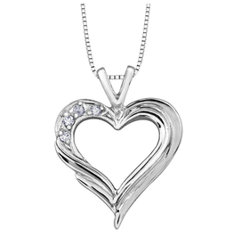 Forever Jewellery White Gold (0.04cttw) Diamond Heart Pendant