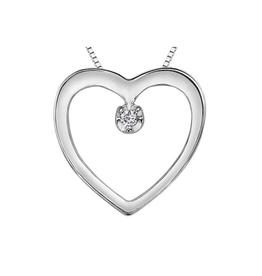 Forever Jewellery White Gold (0.01ct) Diamond Heart Pendant