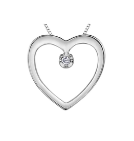 Forever Jewellery White Gold (0.01cttw) Diamond Heart Pendant