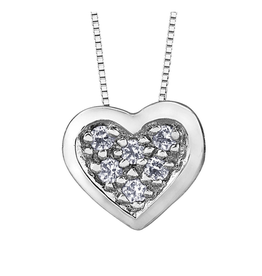 Forever Jewellery White Gold (0.05cttw) Diamond Heart Pendant
