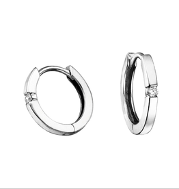 Forever Jewellery White Gold (0.04ct) Diamond Hoop Earrings
