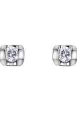 Forever Jewellery White Gold (0.06ct) Tension Set Diamond Stud Earrings