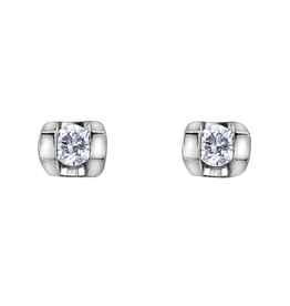 Forever Jewellery White Gold (0.06ct) Tension Set Diamond Stud Earrings