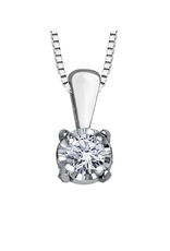 Forever Jewellery White Gold (0.03ct) Solitaire Diamond Pendant