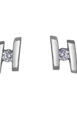 Forever Jewellery White Gold (0.07ct) Tension Set Diamond Stud Earrings