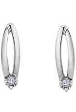 Forever Jewellery White Gold (0.04ct) Diamond Stud Fancy Earrings