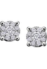 Forever Jewellery White Gold (0.08ct) Starburst Diamond Stud Earrings