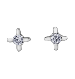 Forever Jewellery White Gold (0.05ct) Diamond Stud Earrings