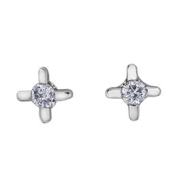 Forever Jewellery White Gold (0.05cttw) Diamond Stud Earrings