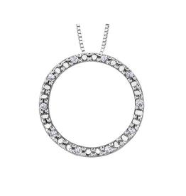 Forever Jewellery 10K White Gold (0.05ct) Diamond Circle of Life Pendant