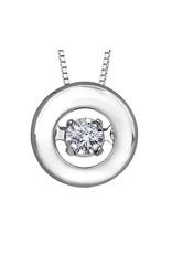 Forever Jewellery 10K White Gold (0.04ct) Dancing Diamond Pendant