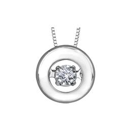 Forever Jewellery White Gold (0.04cttw) Dancing Diamond Pendant