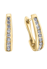 Forever Jewellery 10K Yellow Gold (0.10ct) Diamond Lever Back Earrings