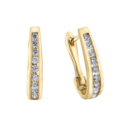 Forever Jewellery 10K Yellow Gold (0.10ct) Diamond Lever Back Earrings