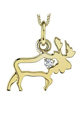 Canadian Diamond Moose Pendant