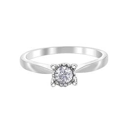 10K White Gold (0.25ct) Diamond Illuminaire Solitaire Ring