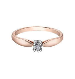 10K Rose and White Gold (0.03ct) Illuminaire Diamond Ring