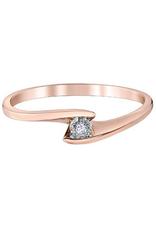 10K Rose Gold (0.015ct) Diamond Illusion Set Promise Ring