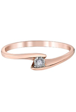 10K Rose Gold (0.015ct) Diamond Illusion Setting Promise Ring