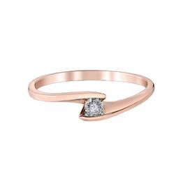 10K Rose Gold Illuminaire Diamond Ring (0.015ct)