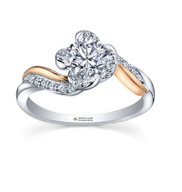 Maple Leaf Diamonds Winds Embrace Canadian Diamond Two Tone Ring (0.60ct)