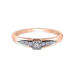 10K Rose Gold (0.14ct) Diamond Illusion Set Ring
