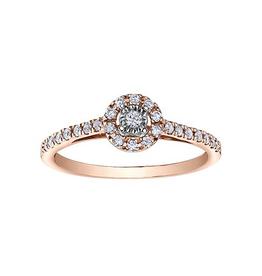 Illuminaire Diamond Halo Ring (0.23ct ) Rose Gold