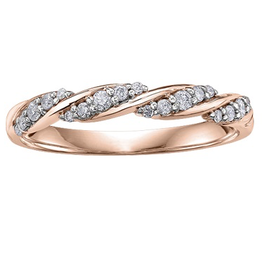 Rose Gold (0.15ct) Diamond Stackable Band
